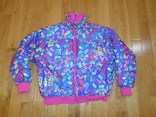 Vintage Columbia Radial Sleeve Reversible Womans Ski Jacket size Lg Down Coat