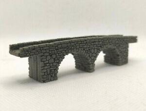 Z GAUGE Z SCALE MODEL 2 ARCH STONE BRIDGE LASER ENGRAVED 1:220