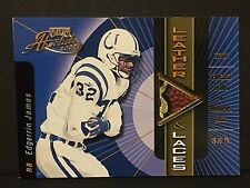 EDGERRIN JAMES 2000 Playoff Absolute LEATHER & LACES Used FOOTBALL Card #d /175