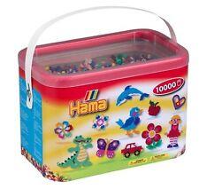 Hama beads 10,000 granos en un cubo