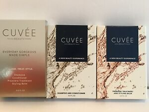 CUVEE Beauty Premier Treatment, Styling Balm, Shampoo & Conditioner Set 0.8 Each