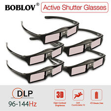 5x KX-30 3D DLP-Link 144Hz Active Shutter Glasses Rechargeable For DLP Projector