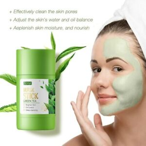 Face Deep Cleansing Mud Mask Stick Green Tea Oil Control Shrink Pores Anti Acne