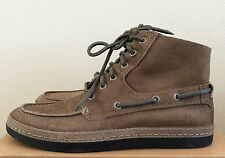 Mens Size 9.5 Stone UGG Bayne Leather Lace Up Ankle Shoes Boots 1006144 STN