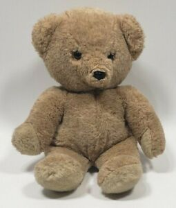 "Russ Berrie TEDDY BEAR 15"" Plush 465 Black Nose Brown Eyes  VGUC"