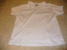 Nike Golf Dri Fit Size L 12-14 white polyester short sleeve golf casual shirt