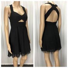 ** DOTTI  ** Size 8 Black Womens Occasion Pleat Party Dress - (B105)