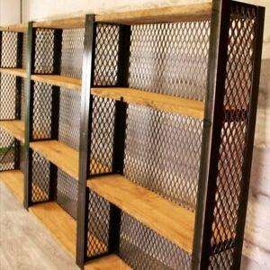 Industrial Bar shelving, restaurant shelving, pub shelving, gin spirit shelves
