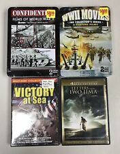 World War II Movies 4 PC Lot, Films of WWII & More, 3 New & 1 Used Sets, History