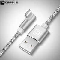 90 Degree USB Cable Data Sync Fast Charger for Apple iPhone 7 Plus 8 XS XR