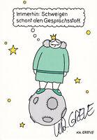 Katharina GREVE - dt. Comic-Zeichnerin und Autorin, Original-Autogramm!