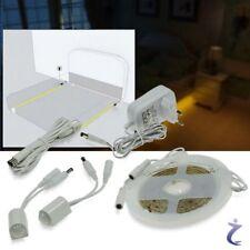 LED Bettbeleuchtung mit Bewegungsmelder 2x1,25m Sensor Stripe Bettlicht warmweiß