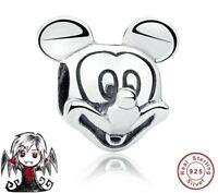 Charms abalorio plata ley Mickey pulsera europea