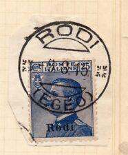 ITALIA OCCUPAZIONE GRECA Rodi 1912-15 BELLE USATO TIMBRO POSTALE Pezzo 197950