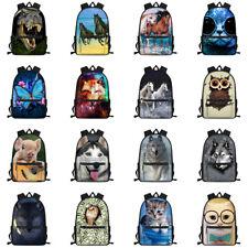 Boys Girls Backpack Lightweight School Outdoor Travel Organizer Animal Rucksacks