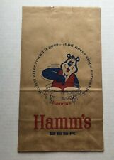 Vintage Hamm's Beer Paper Bag in Perfect Condition!