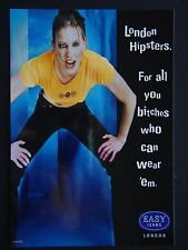 EASY JEANS LONDON HITPSTERS THOSE BITCHES WHO CAN WEAR 'EM PROPAGANDA POSTCARD