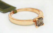 GENUINE 0.47 Cts CHAMPAGNE DIAMOND ENGAGEMENT RING 10K  ROSE GOLD