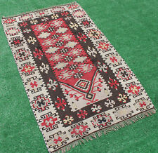 Turkish Kilim Rug 33''x53'' Hand Woven Kirsehir Kilim 85x137cm Vintage Kilim