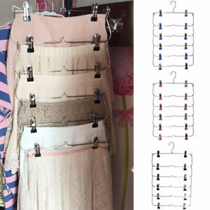 Foldable Magic Hanger Space Saving Clothes Shirt Trouser Scarf Belt Storage Rack