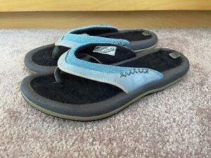 **Timberland** Women's  Blue Thong Flip Flops Flat Sandals Size UK 5 Toe Post