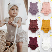 Newborn Infant Baby Girl Ruffle Romper Bodysuit Jumpsuit Outfit Playsuit Clothes