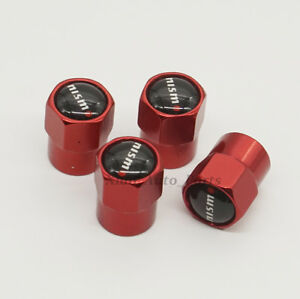 4x Car NISMO Logo Decoration Tire Valve Stems Caps Covers Accessories For Nissan