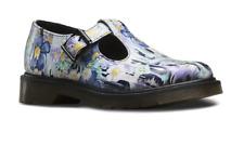 Doc Martens sexy purple slime floral paint one buckle Polley  shoe UK7 US9L US8M