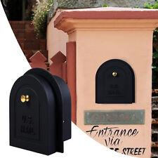 "6"" Brick Stone Stucco Mailbox Door - Cast Aluminum Replacement Doors Mailboxes"