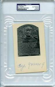 Cy Young Signed Authentic 3.75X6 Trading Card Autograph Slabbed PSA/DNA #S02208