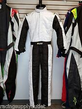 Sparco/Lico Racing Suit Black/White  Size XX-Small 48   SFI and FIA Rated   New