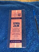 IOWA JAM UNUSED 1987 CONCERT TICKET Bon Jovi Cinderella Jon Richie Sambora Dokke