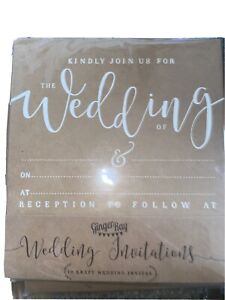 rustic wedding invitations 70 Invites With Envelopes