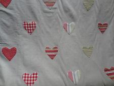 "VOYAGE ""CORINA"" 3 metres embroidered love hearts designer fabric CHERRY 109"