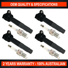 4x Swan Ignition Coil w/ NGK Spark Plugs for Subaru Liberty Exiga Outback 2.5i