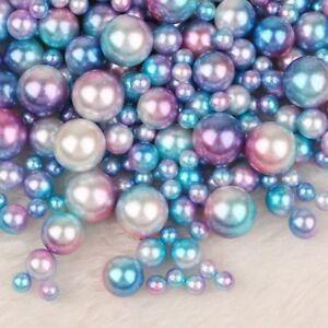 50 Stück Regenbogen Perlen Schmuck 6 mm Zubehör Bastelset Basteln Streudeko A41