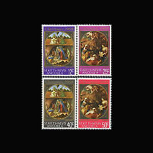 St Kitts Nevis Anguilla, Sc #191-94, MNH, 1968, Christmas, Paintings, FXX-A