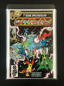 Crisis on Infinite Earths #1  - Key Issue - Perez wrap-around cover -