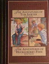 The Adventures of Tom Sawyer & Huckleberry Finn Library classics Beautiful Rare