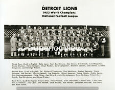 World Champions The Detroit Lions Football Team 1953 Detroit Lion Lovers Must
