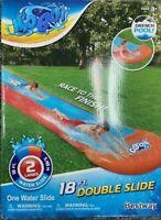 H2OGO! 18' Double Lane Water Slide Swimming Kids Kiddie Pool Summer Fun