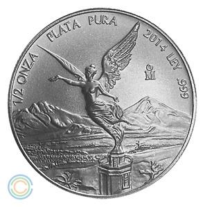 2014 1/2 oz Mexican Silver Libertad BU (23,000 Mintage)