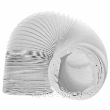 "SIEMENS Vented Tumble Dryer Hose Long Condenser Duct Vent PVC Vinyl Pipe 6m 4"""