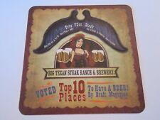Beer Coaster: BIG TEXAN Steak Ranch & Brewery ~ Amarillo, TEXAS ~ 72 Ounce Steak