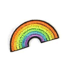 Bügelflicken Regenbogen klein neon Bügelbild Aufbügler Flicken zum aufbügeln