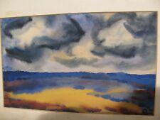 Impressionismus Aquarell undeutlich signiert Claus Finkenberg 54 Morgens ?