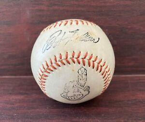Cleveland Indian Souvenir Baseball, Indians Logo, Bob Feller Facsimile Autograph