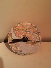 Liverpool map CD  quartz clock. Decoupage. Handmade.