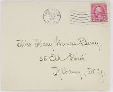 1929 Envelope Los Gatos CA to Albany NY postal cover 2 cent cancelled Small Town
