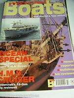 MODEL BOATS JULY 2000 HMS CRUISER HMS OCEAN MV BENARTY AREZZO SARAH LOUISE GUS